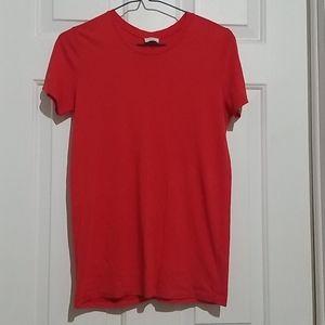 3/25 Aritzia Wilfred Red Basic Crewneck Tshirt